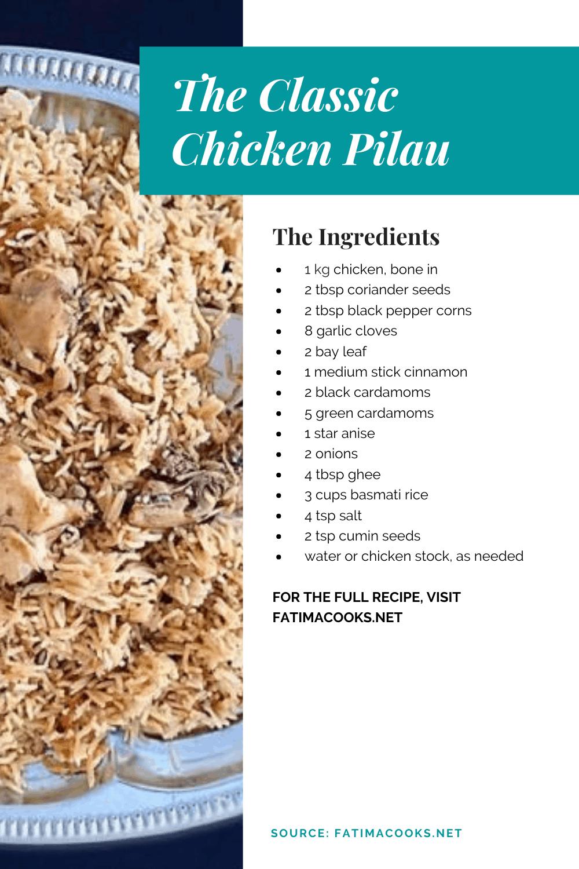 How To Make Chicken Pilau Rice Pakistani Style