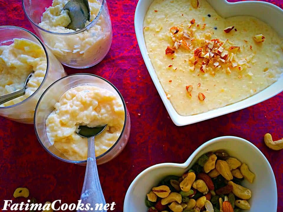 Cardamom Rice Pudding - Kheer @ fatimacooks.net