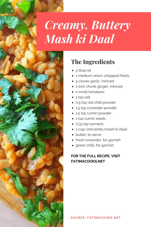 Bhuni Mash ki Daal Ingredients