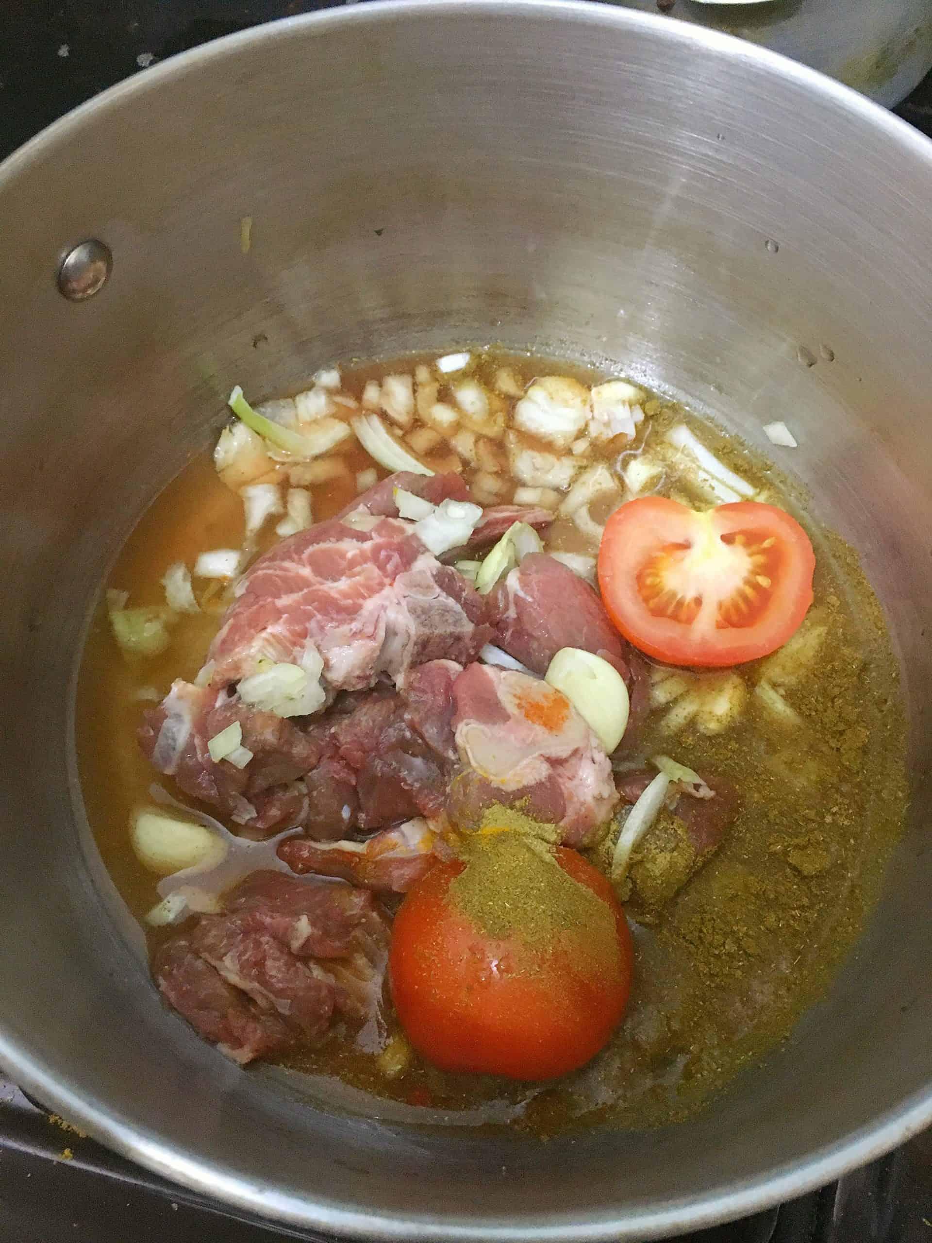Aloo Gosht Shorba - Pakistani Lamb and Potato Curry