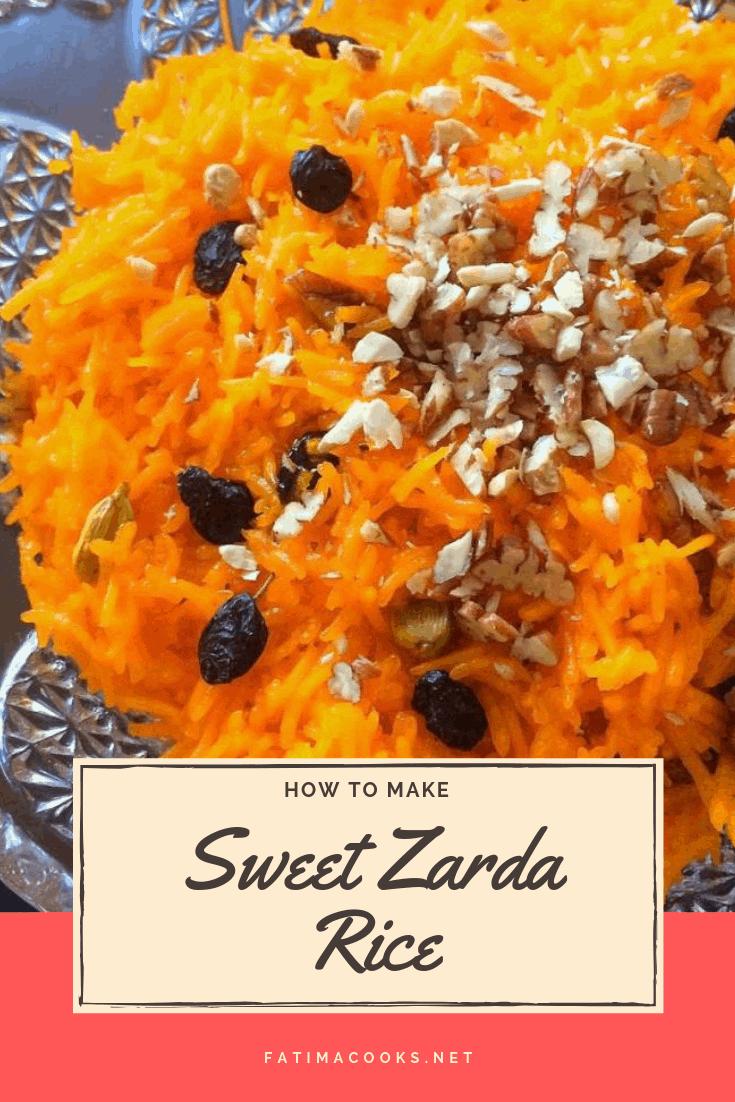 Zarda - Pakistani Sweet Rice with Nuts, Raisins & Cardamom
