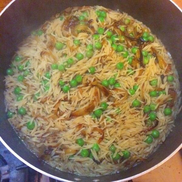 Mattar Pilau - Pakistani Rice with Peas