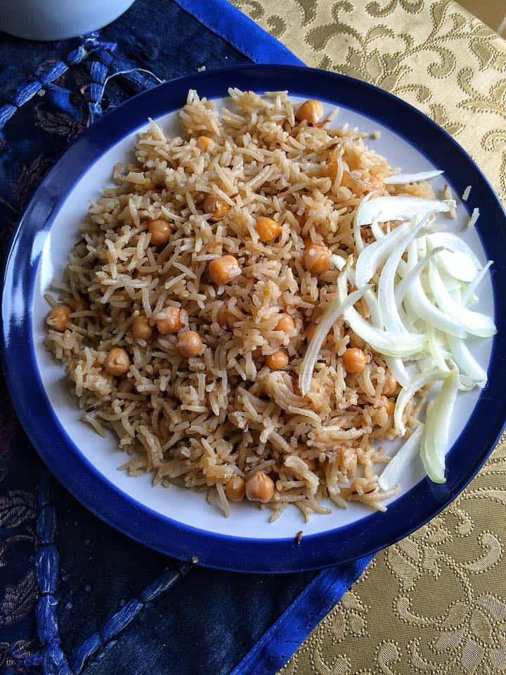 Chana Pulao / Pilau - Pakistani Chickpeas and Rice
