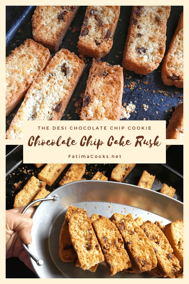 How To Make Cake Rusks - The Desi Chocolate Chip Cookie!