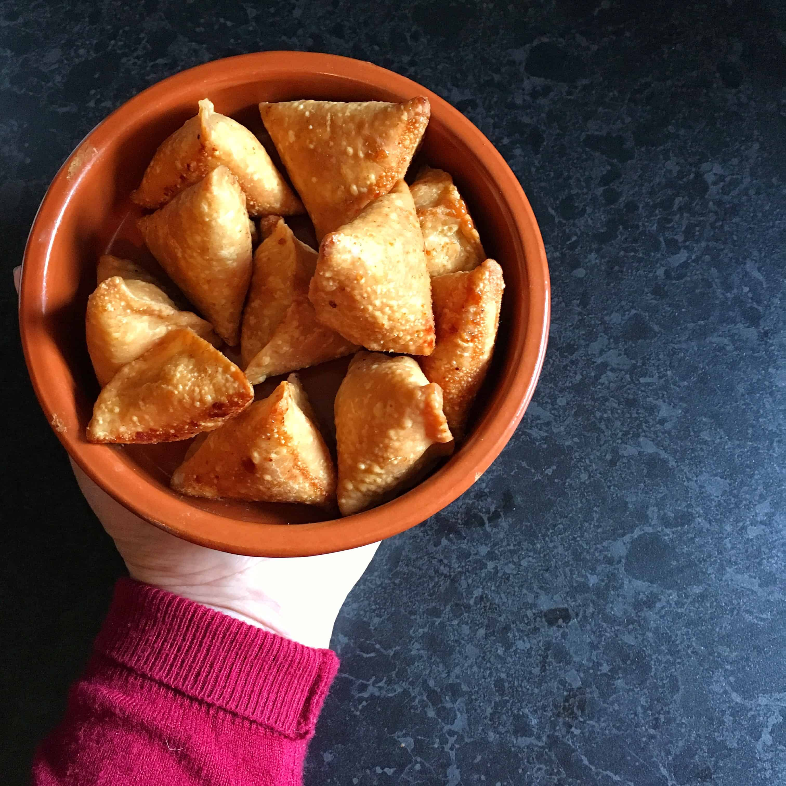 How To Make Sweet Coconut Samosas - Khopra  / Nariyal Ka Samosa