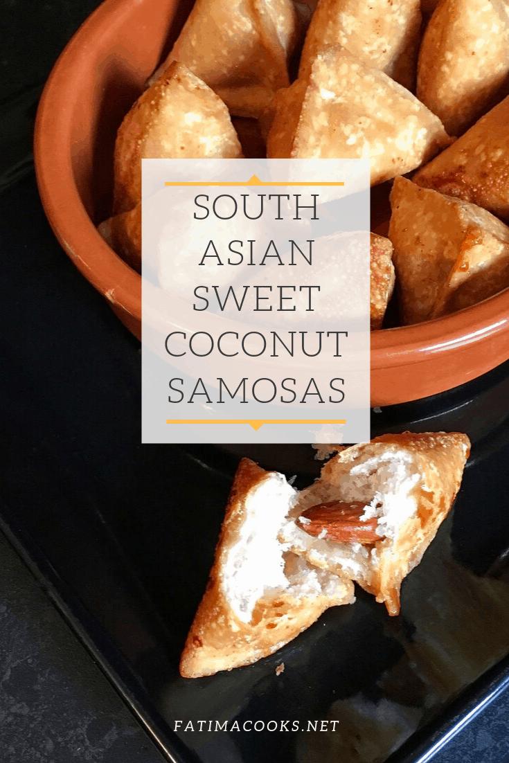 How To Make Sweet Coconut Samosas - Khopra / Nariyal Ka Samosa