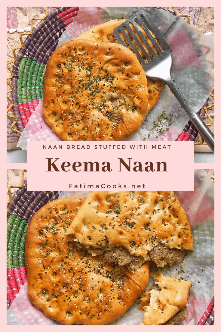 Easy Keema Naan Recipe - In The Oven + Tawa